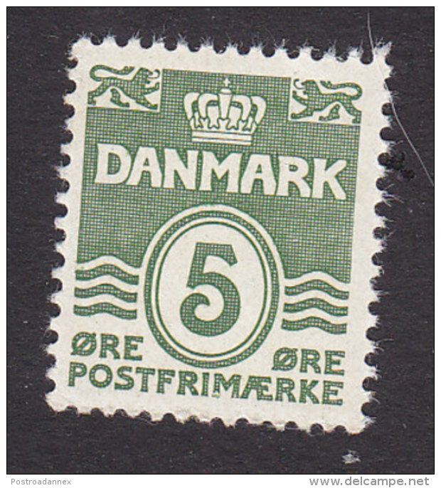 Denmark, Scott #223a, Mint Never Hinged, Number, Issued 1933 - 1913-47 (Christian X)
