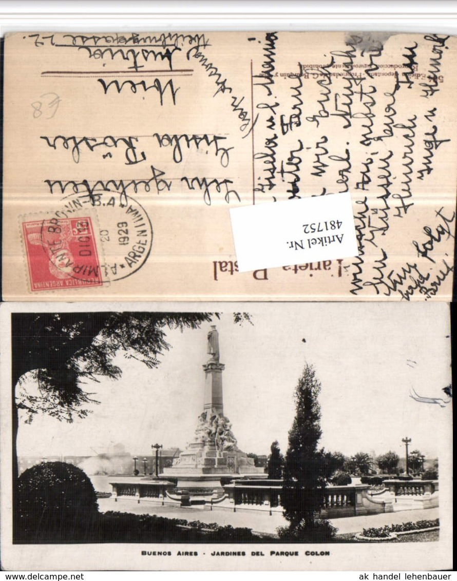 481752,Argentina Buenos Aires Jardines Del Parque Colon Statue - Argentinien
