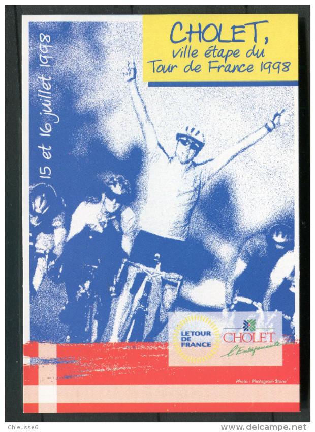 CP Tour De France - Cholet Ville étape 1998 - Cartes