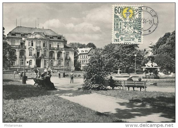 D24836 CARTE MAXIMUM CARD 1964 CZECHOSLOVAKIA - CITY TEPLICE FOUNTAIN CP ORIGINAL - Architecture