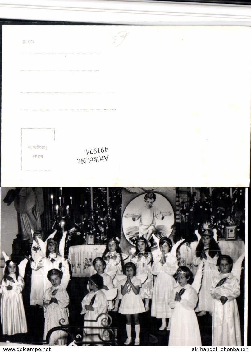 491974,Foto AK Kirche Kinder Kostüm Engeln Gebet - Engel