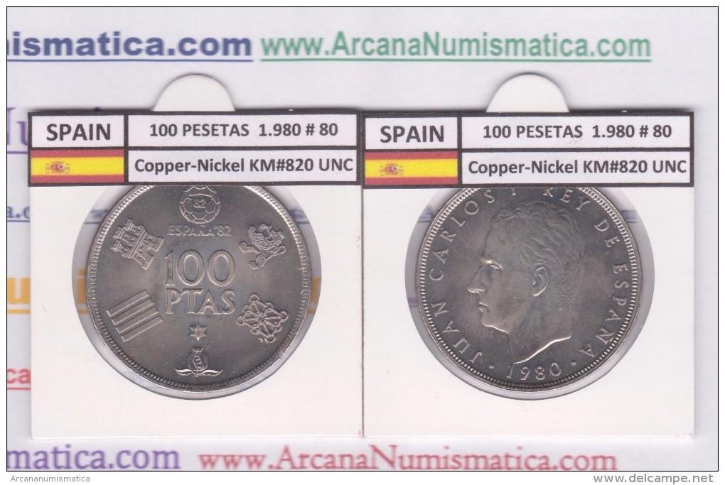 SPAIN /JUAN CARLOS I    100  PESETAS  Cu-Ni 1.980 #80  KM#820  SC/UNC     T-DL-9483 - [ 5] 1949-… : Kingdom