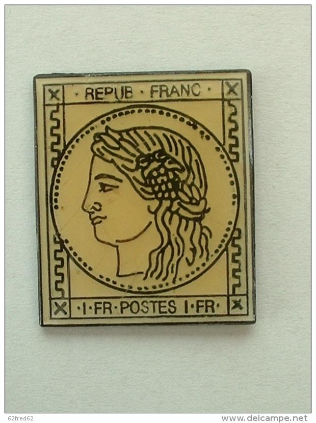 Pin´S TIMBRE 1Fr FRANCAIS - Badges