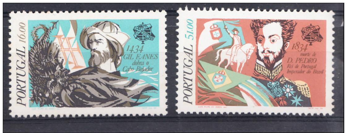 PORTUGAL 1984.AFINSA  Nº 1676/1677. DATAS DA HISTORIA DE PORTUGAL   SES348GRANDE - 1910-... República