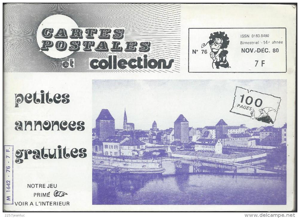 Magasine . Cartes Postales Et Collections Novembre 1980 Illustration Thèmes Divers 100 Pages - Français