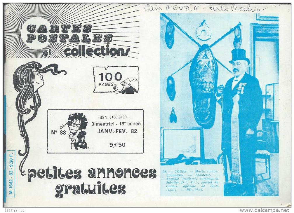 Magasine . Cartes Postales Et Collections Janvier 1982 Illustration &  Thèmes Divers 100 Pages - Français