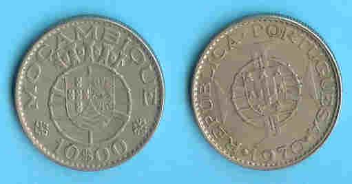 MOZAMBIQUE1970 10 Escudo´s Copper Nickel  Km79b - Mozambique