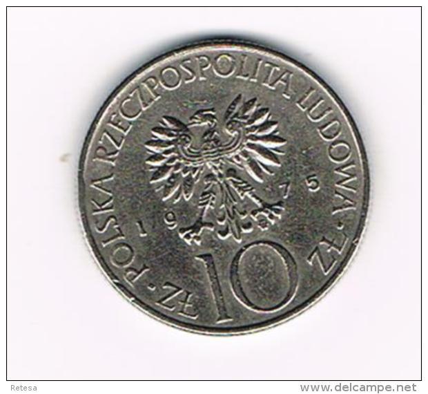 °°° POLEN  10 ZLOTYCH  1975  ADAM  MICKIEWICZ - Pologne
