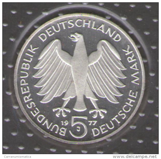 GERMANIA 5 DEUTSCHE MARK 1977 CARL FRIEDRICH GAUSS AG SILVER - [10] Commemorative