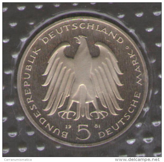 GERMANIA 5 DEUTSCHE MARK 1981 CARL REICHSFREIHERR VOM STEIN AG SILVER - [10] Commemorative