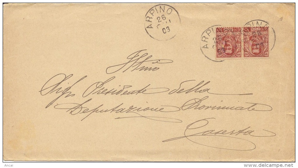 Arpino. 1903. Annullo Grande Cerchio Su Lettera Affrancata - Marcophilie