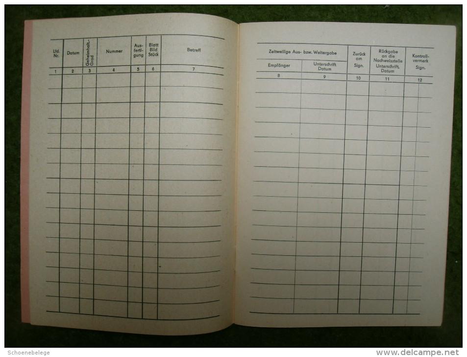 A4114) DDR NVA Nachweisbuch Für Staats-/militärische Geheimnisse DV NVA 36212 Ungebraucht - Historische Dokumente