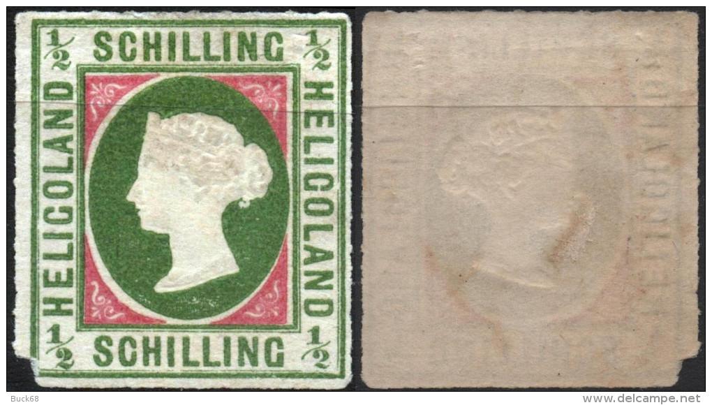 HELIGOLAND Helgoland ALLEMAGNE GERMANY  1a * Sg (type II) Reine Victoria (réimpression) - Heligoland