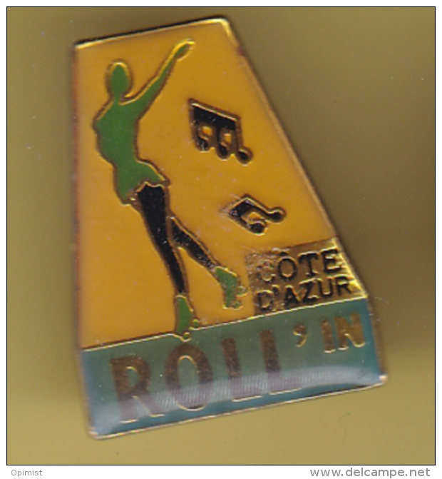 50645- Pin's-Pin Up.roll'in Cote D'azur.patinage... - Patinage Artistique