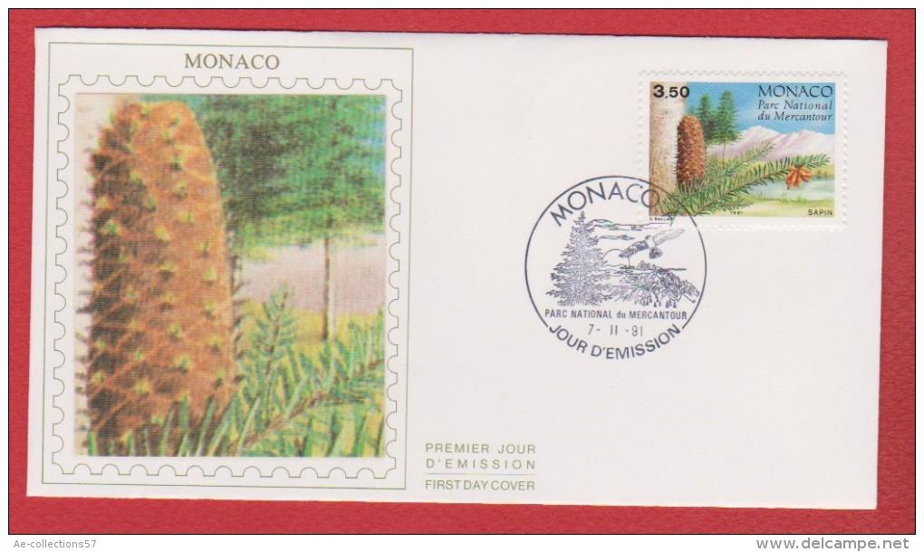 Monaco / 1er Jour / 7-11-1991 / Parc Du Mercantour : Sapin - FDC