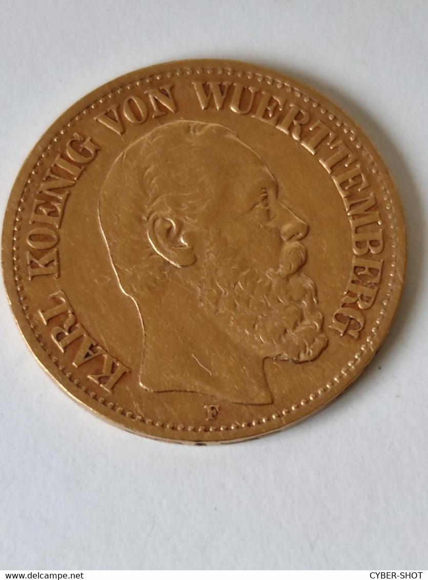 GOLD 10 MARK DEUTCHES  REICH 1875F - [ 2] 1871-1918 : German Empire
