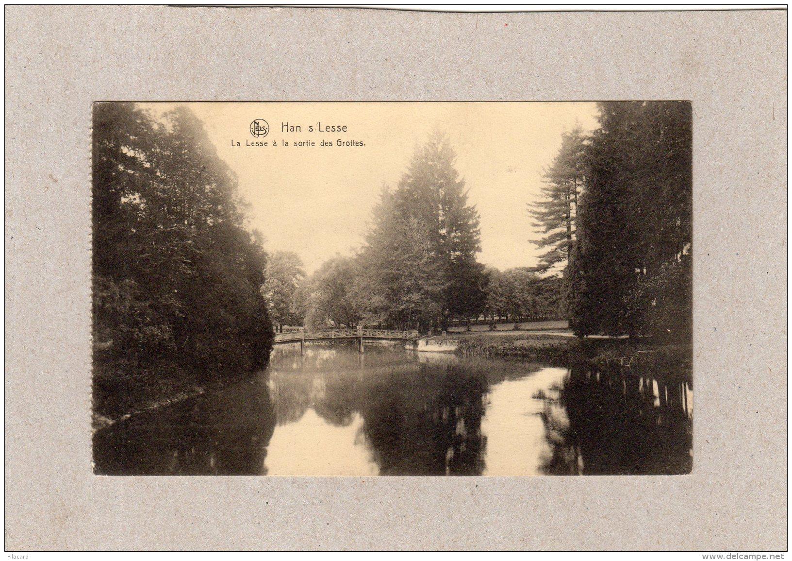 62980   Belgio,  Han S/Lesse,  La  Lesse A La Sortie Des Grottes,  VG  1922 - Rochefort