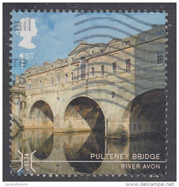GREAT BRITAIN - 2015    Bridges - Pulteney Bridge, River Avon 1st SG3689 Used - 1952-.... (Elizabeth II)