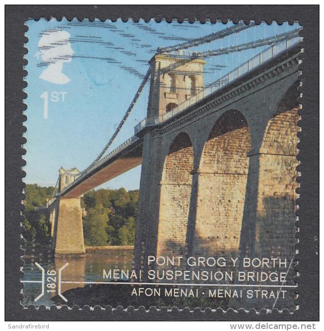 GREAT BRITAIN - 2015    Bridges - Menai Suspension Bridge, Menai Strait 1st SG3691 Used - 1952-.... (Elizabeth II)