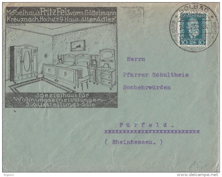 DR Werbebrief Kreuznach EF Minr.368 SST Kreuznach 24.1.25 - Briefe U. Dokumente
