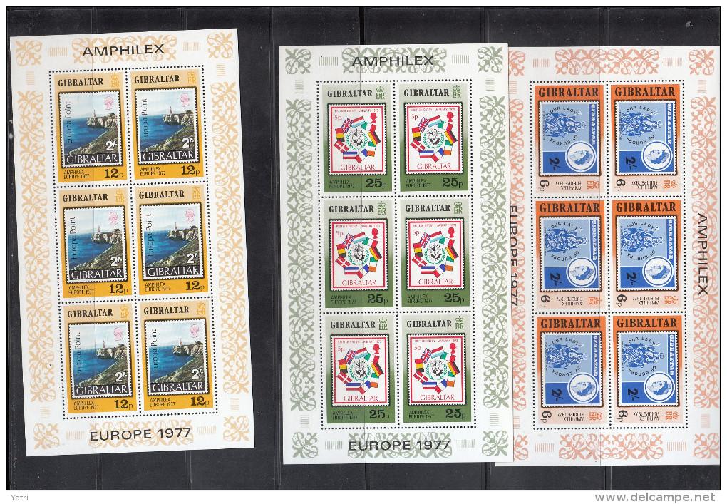 Europa - 1977 GIBRALTAR Minifogli Perfetti ** - 1977