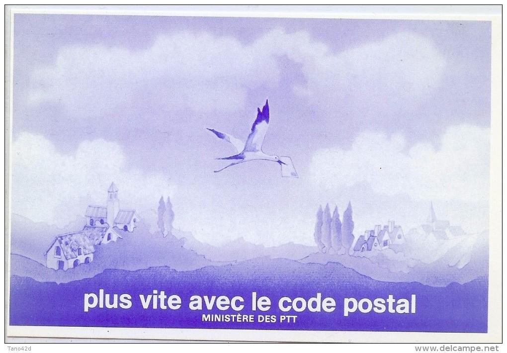 "LBR22B - CARTE POSTALE DE CHANGEMENT D'ADRESSE ""PLUS VITE AVEC LE CODE POSTAL"" - Postal Stamped Stationery"
