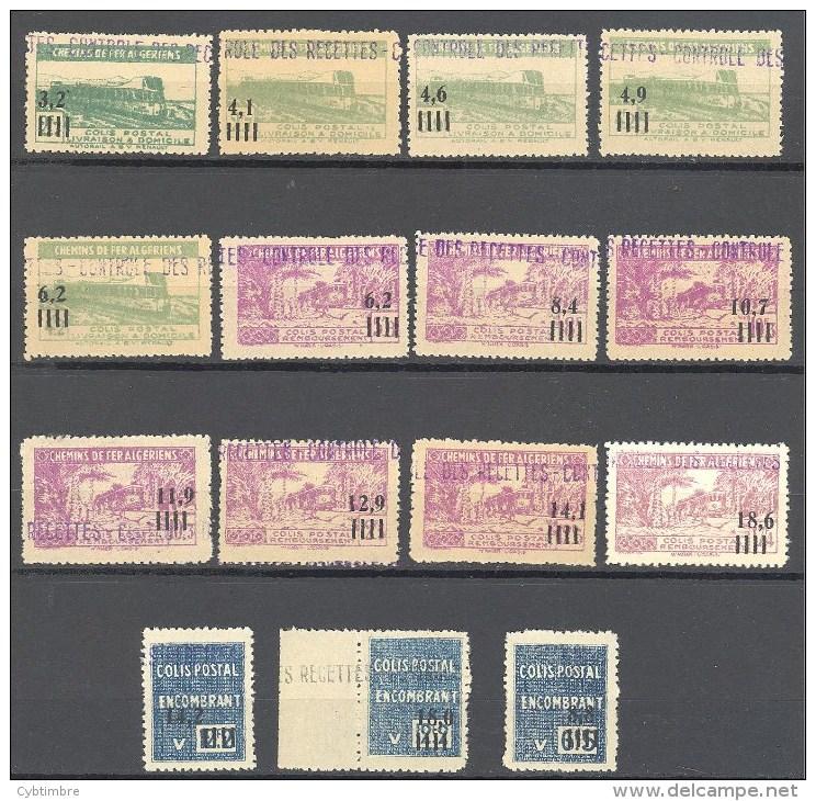 Algerie: Yvert N°Colis Postaux 130/50*; 15 Valeurs; Cote 131.60€ - Algérie (1924-1962)