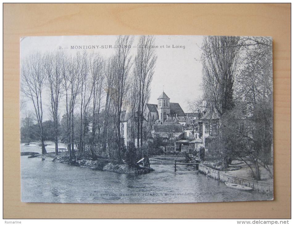 Montigny Sur Loing - L'Eglise Et Le Loing - Montigny Le Bretonneux