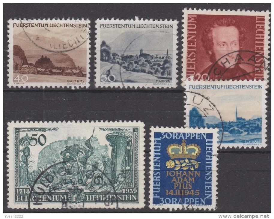 Liechtenstein Petit Lot, 6 Timbres Oblitérés - Collections