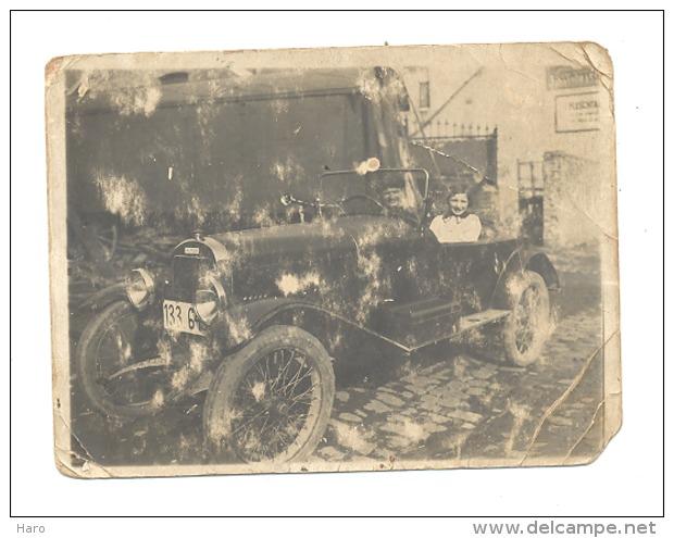 """Photo ( +/-9 X 12 Cm) """" SALMSON   - Voiture, Auto, Oldtimer (CHA)  Etat Pas Terrible, à Séjourné Dans Un Porte-feuilles - Cars"""