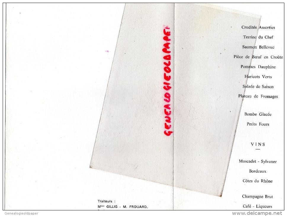 87 - SAILLAT - MENU 62E CONGRES DEPARTEMENTAL -AUSSEDAT REY-1978 UNION SOCIETES MUTUALISTES-PHOTO LUCIEN LAVAUX - Menus