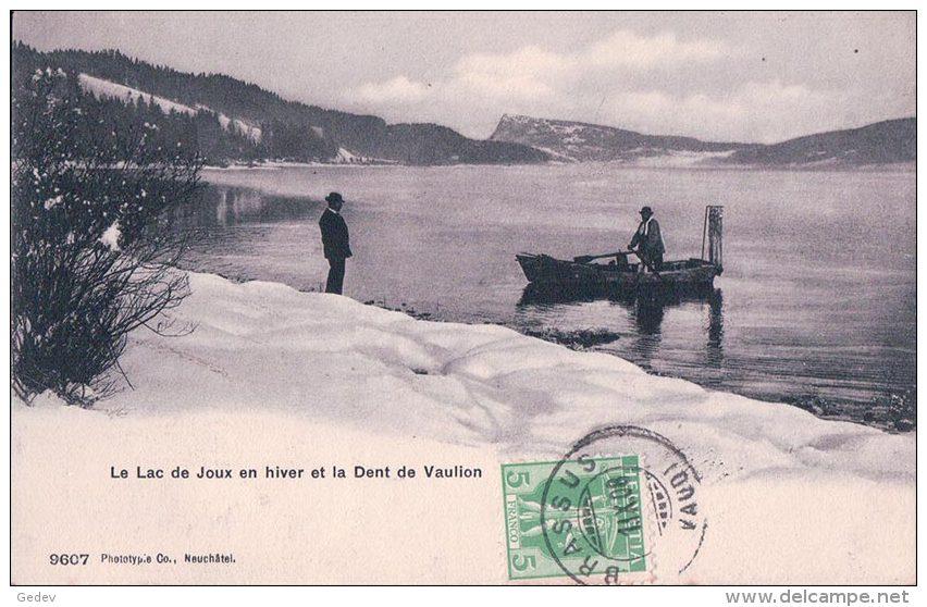 Vallée De Joux, Le Lac De Joux En Hiver, Barque (9607) - VD Vaud