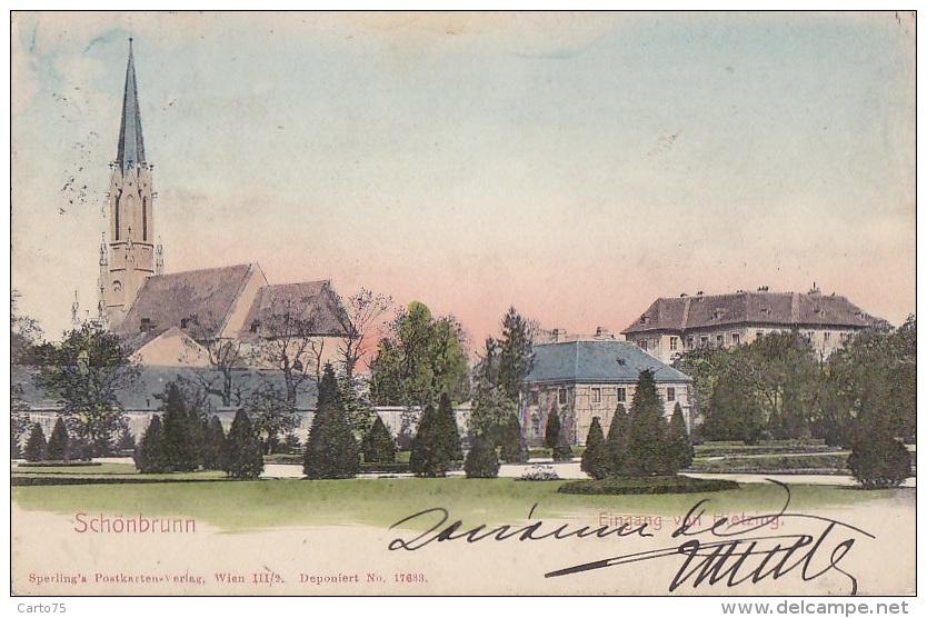 Autriche - Schönbrunn - Fingang Von Hietzing - Château De Schönbrunn
