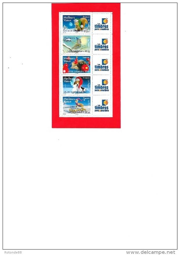 """Carnet Timbres  """"Meilleurs Voeux"""" N° 4120A Avec  Logo Timbres Personalisés - Markenheftchen"""