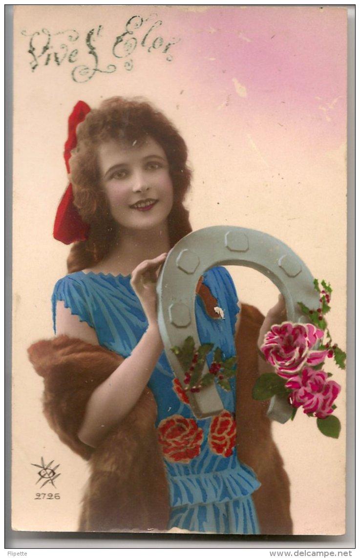L25C134 - Saint Eloi - Jeune Femme Avec Un Fer à Cheval - SOL N°2726 - Holidays & Celebrations