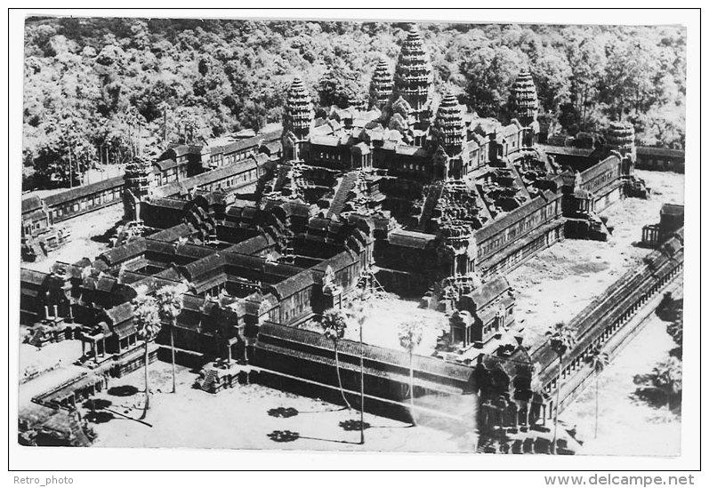 Cpsm Cambodge - Angkor-Vat - Vue Aérienne - Cambodja