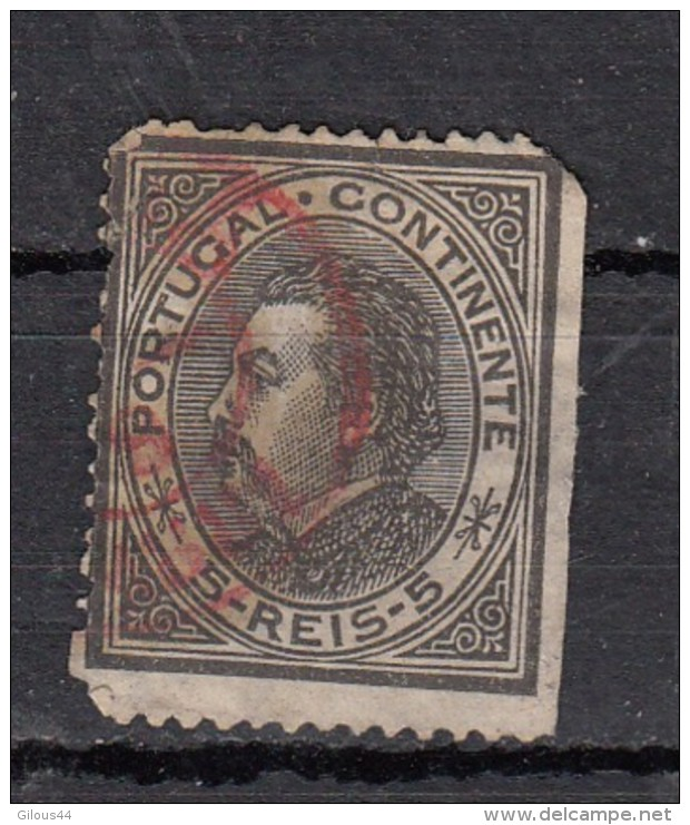 Portugal Effigie De Louis 1er 5r Noir YT N° 51 - 1862-1884 : D.Luiz I