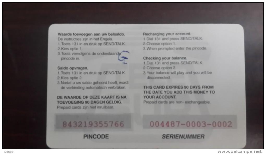 Surinam--(pc-ref-tel-005b)-city At Night-mobil Refil-10$-used Card+1card Prepiad Free - Suriname