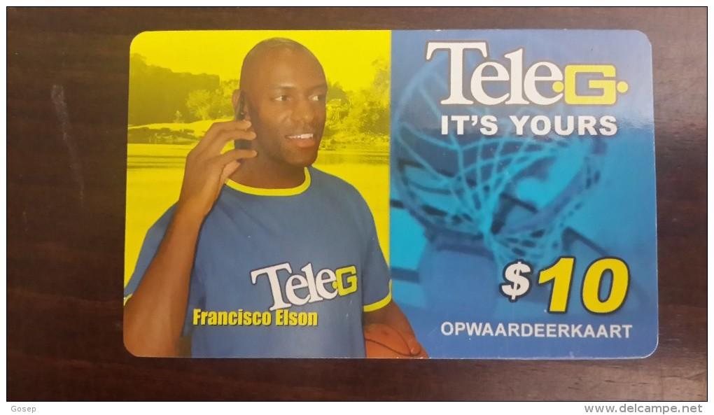 Surinam-(pc-ref--tel-022a)-francisco Elson-mobil Refil Card-10$-used Card+1card Prepiad Free - Suriname