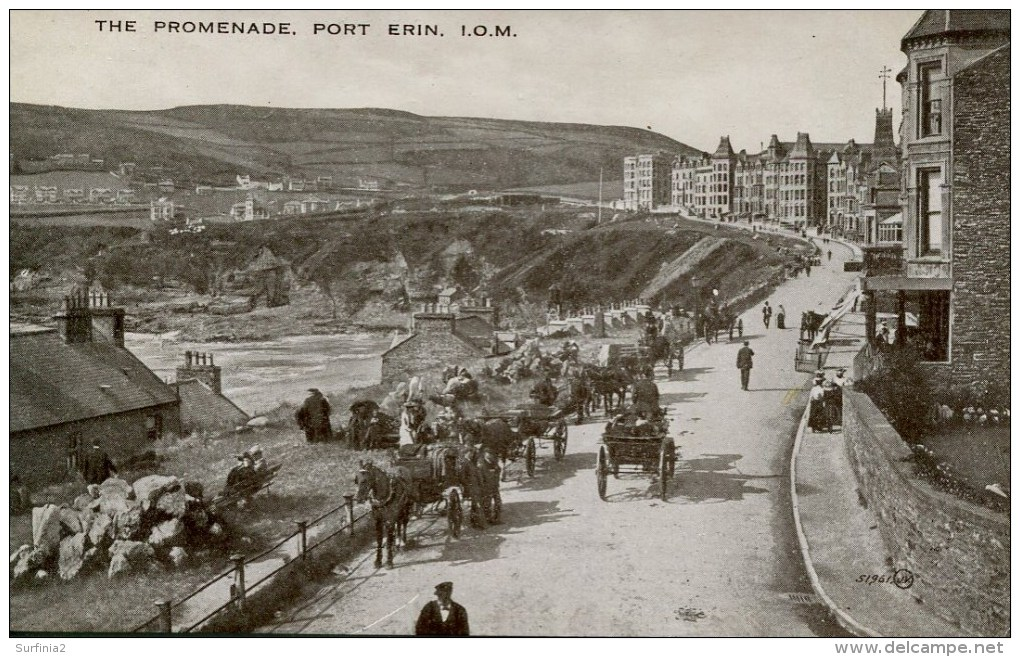 ISLE OF MAN - PORT ERIN - THE PROMENADE - ANIMATED Iom384 - Isle Of Man