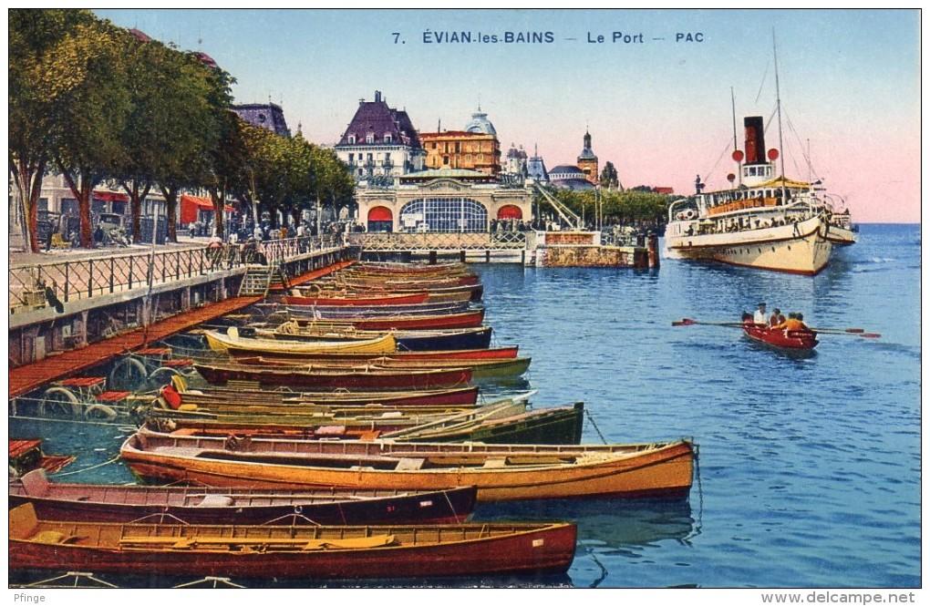 Evian-les-Bains - Le Port, 1939 ? - Evian-les-Bains