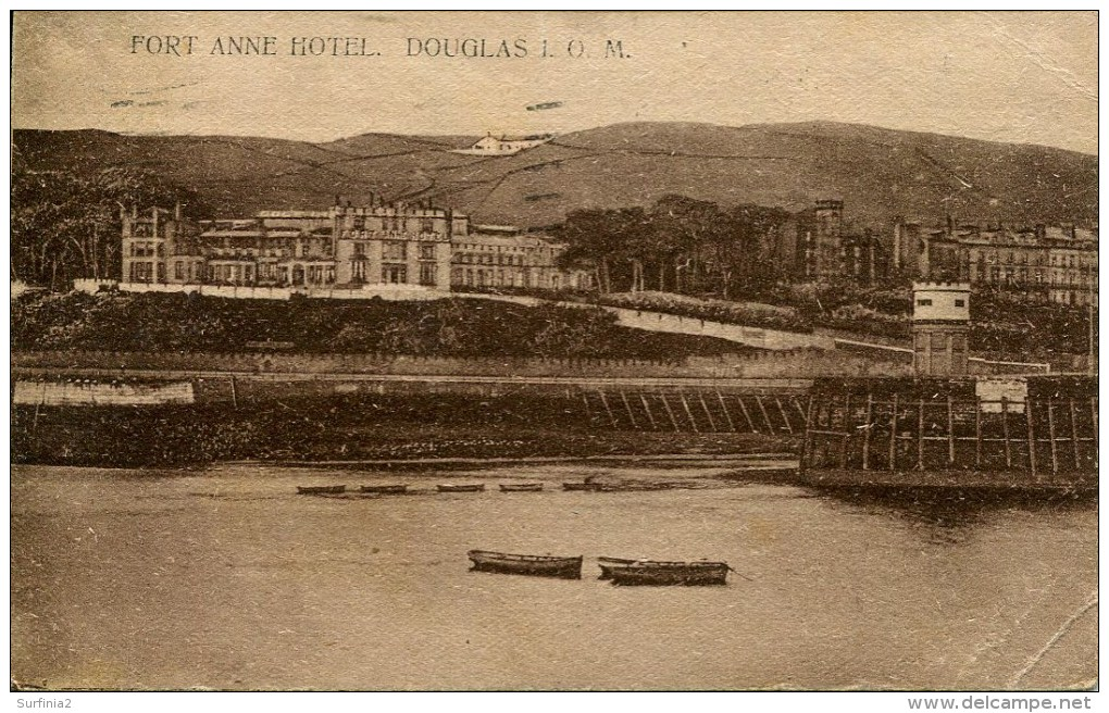 ISLE OF MAN - DOUGLAS - FORT ANNE HOTEL 1927 Iom396 - Isle Of Man