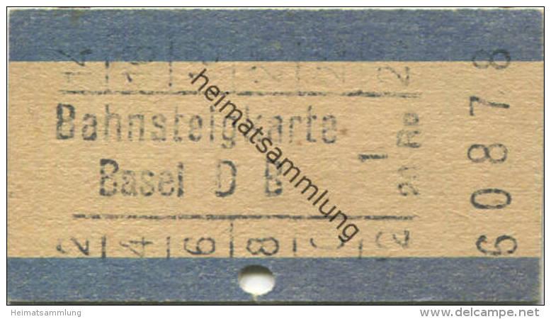 Bahnsteigkarte - Basel DB 20Rp. - Transporttickets