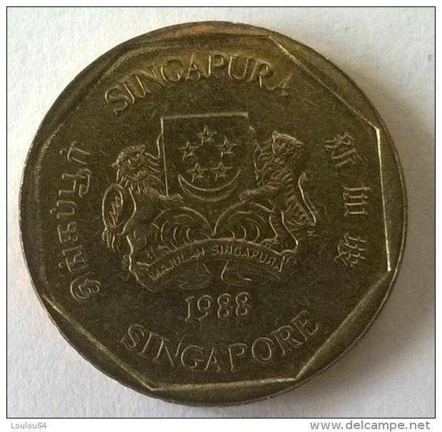 Monnaie - Singapour - 1 Dollar 1988 - - Singapour