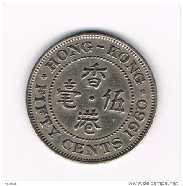°°°  HONG KONG  50  CENTS 1960 - Hong Kong