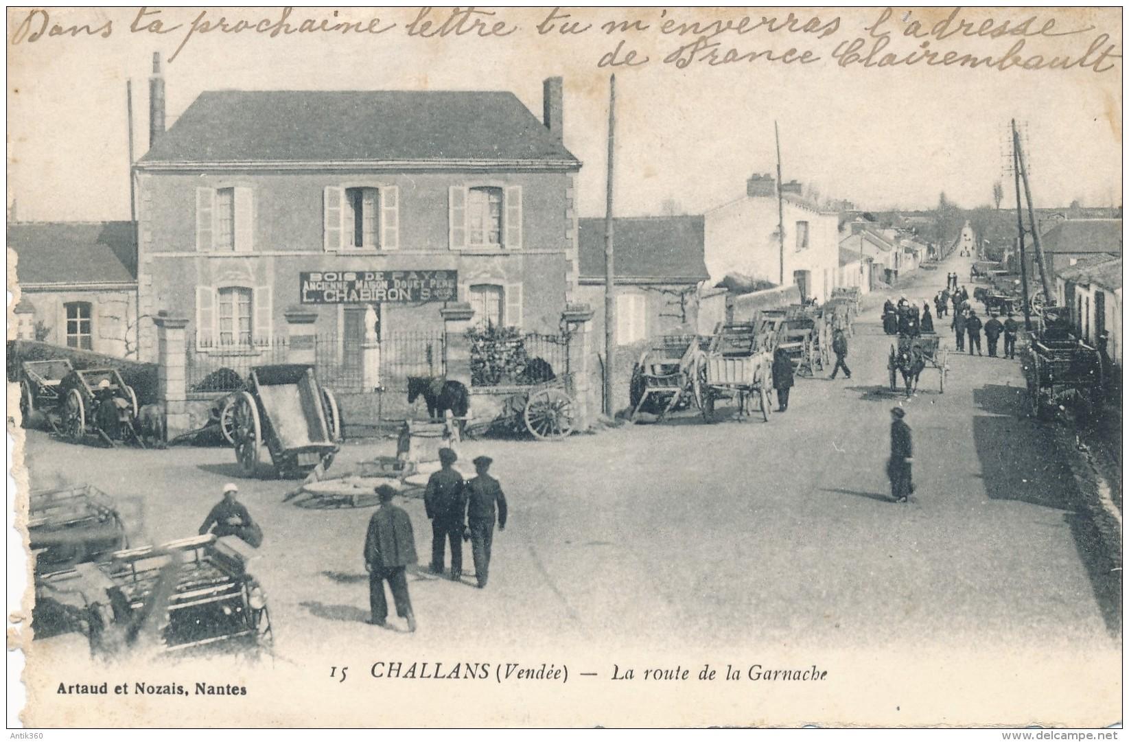 CPA 85 CHALLANS La Route De La Garnache - Challans