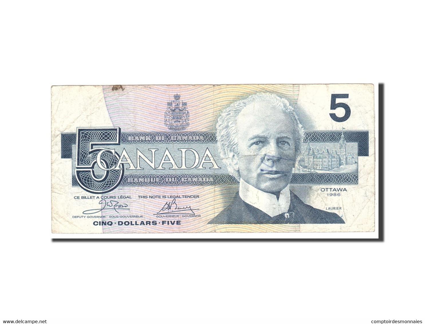 Canada, 5 Dollars, 1986, KM:95a2, Undated, TB - Canada