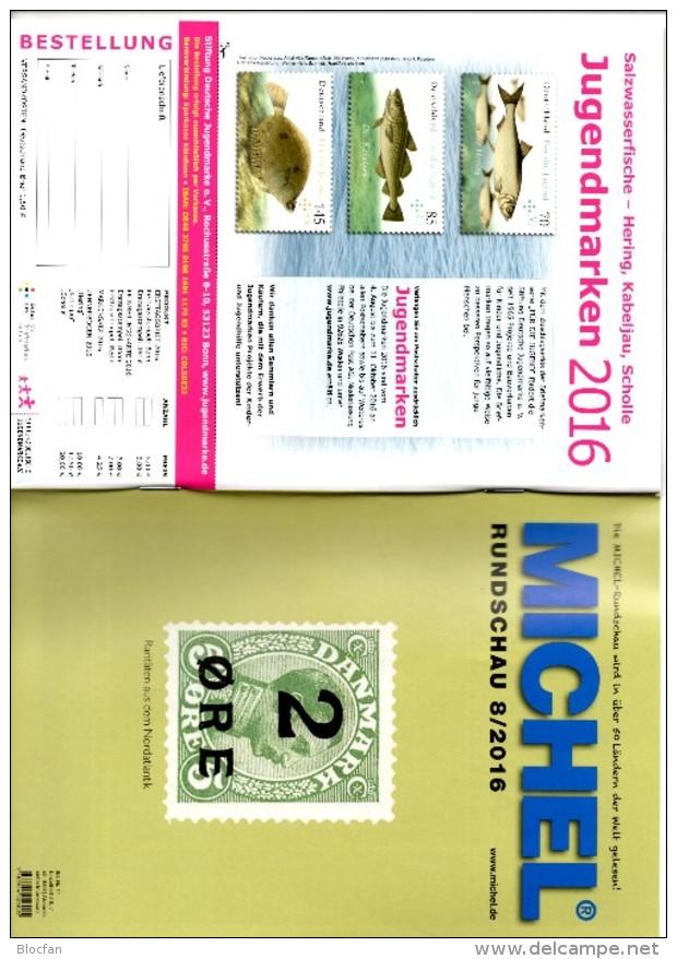 MICHEL Briefmarken Rundschau 8/2016 Neu 6€ New Stamps Of The World Catalogue/magacine Of Germany ISBN 978-3-95402-600-5 - Deutsch