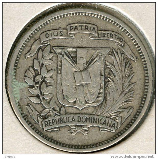République Dominicaine Dominican Republic 25 Centavos 1960 Argent KM 20 - Dominicaine