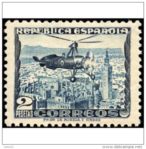 ES689STV-LFT**689TTOA.España.Spain. Espagne.AUTOGIRO LA CIERVA 1935  (Ed 689*) Con Charnela. - Otros (Aire)